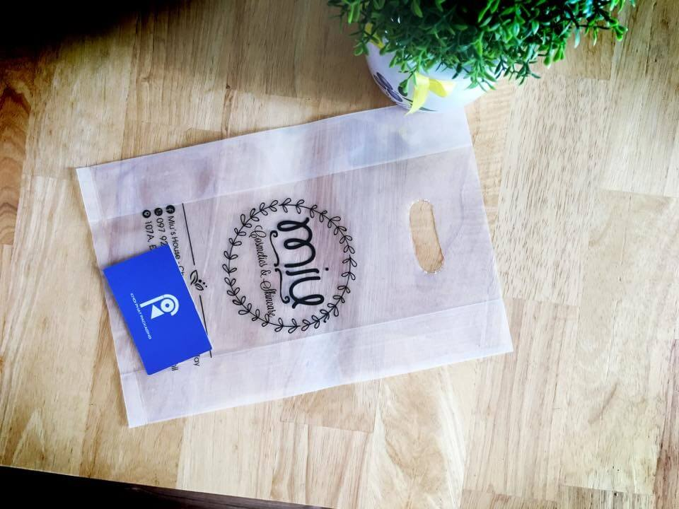 Túi nilong trong suốt đựng mỹ phẩm cosmetic skin