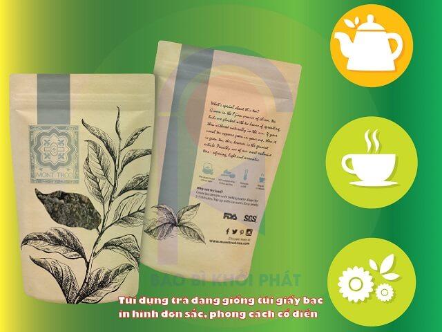 bao bì trà chè phong cách cổ điển