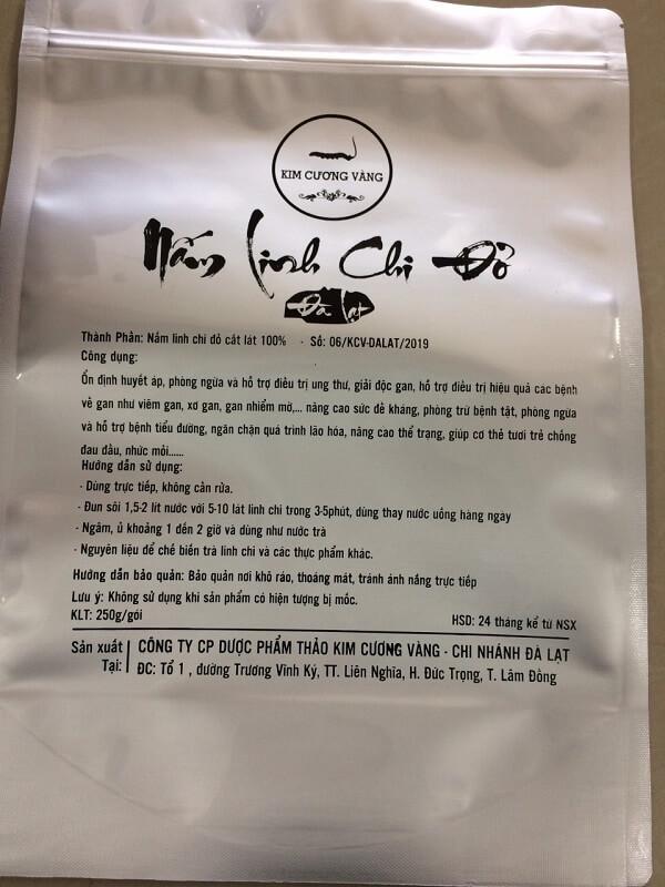 Túi zipper bạc Nấm Linh Chi Đỏ