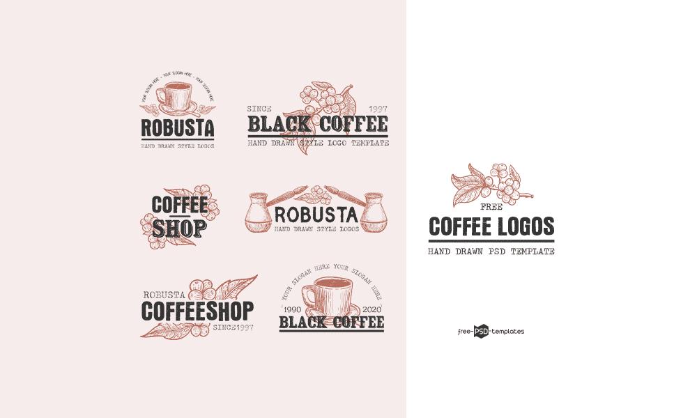 Bộ logo cà phê cổ điển