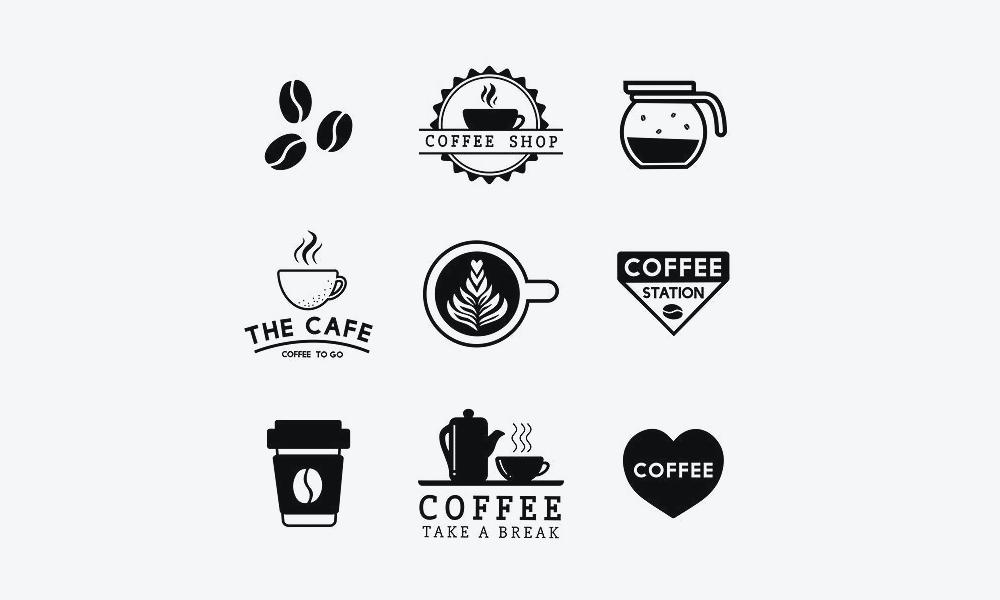 Bộ logo cà phê đẹp