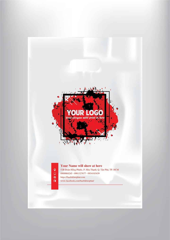 túi ni lông kết hợp logo chữ với brush-01