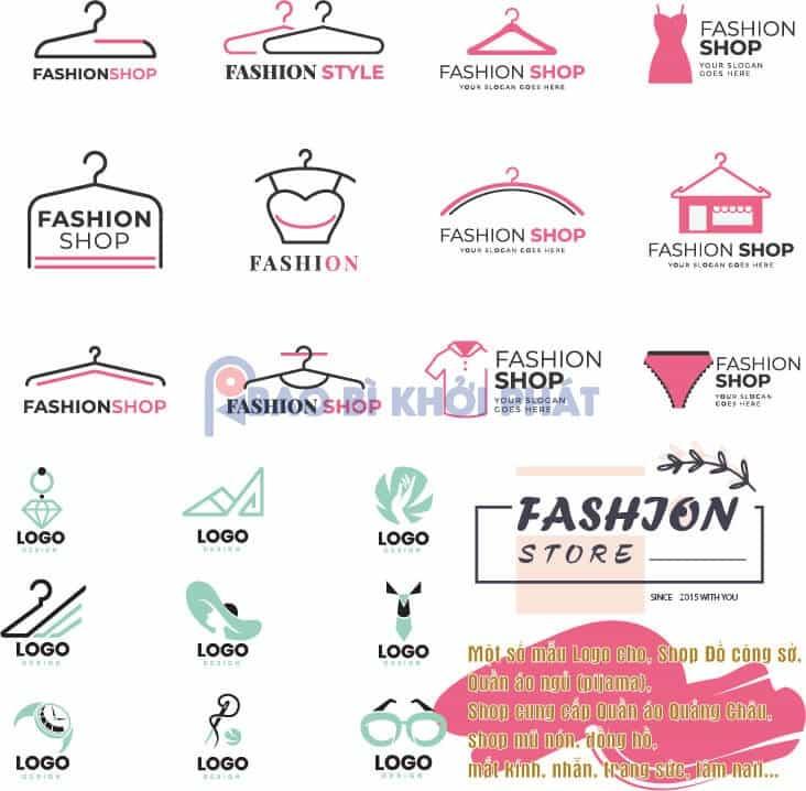 Logo miễn phí shop thời trang phụ kiện cho nữ