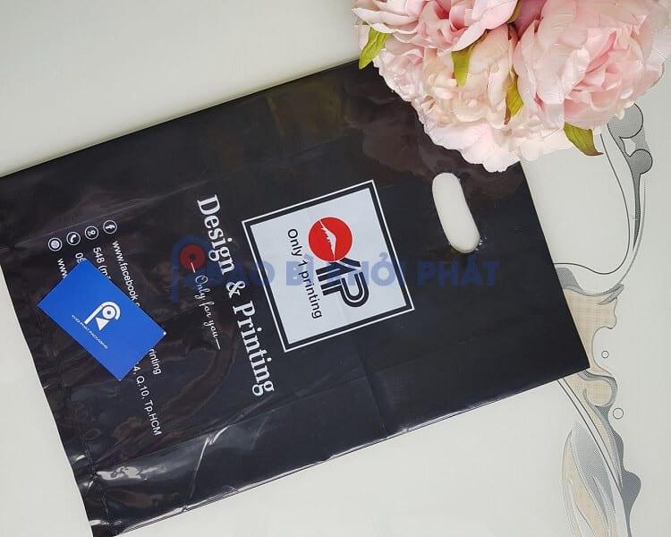 Túi hột xoài PE đen in màu trắng màu đỏ