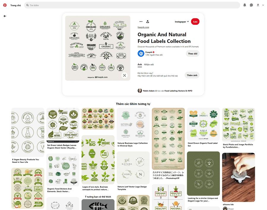 Hình ảnh organic natural cho bao bì thực phẩm sạch