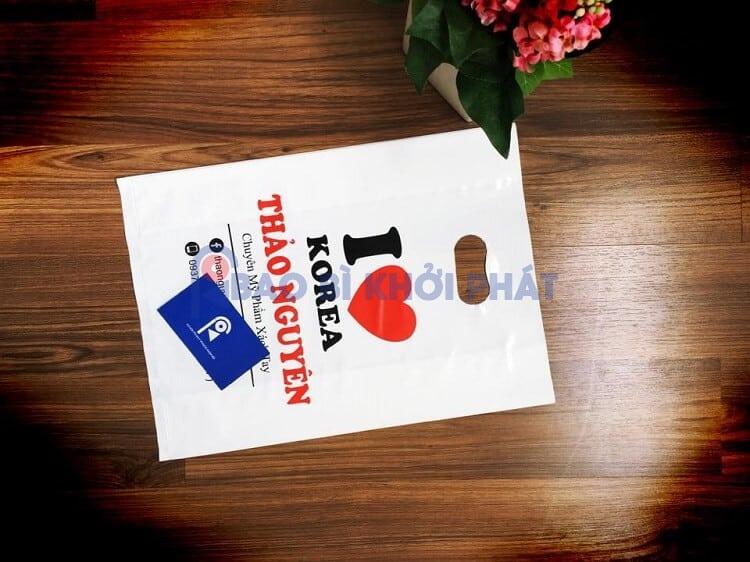 in túi nilon mỹ phẩm Hàn quốc