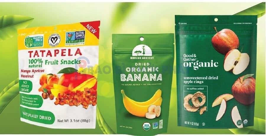 mẫu túi thực phẩm sạch organic natural