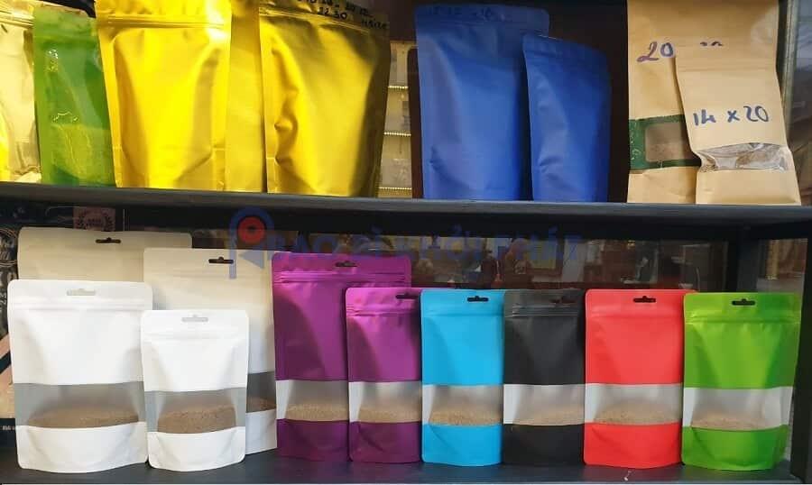 Tổng hợp mẫu túi zipper đẹp: cửa sổ, màu trắng sữa, xanh, đỏ, vàng, tím
