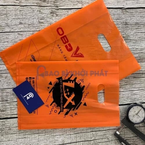 Túi nilon PE màu cam