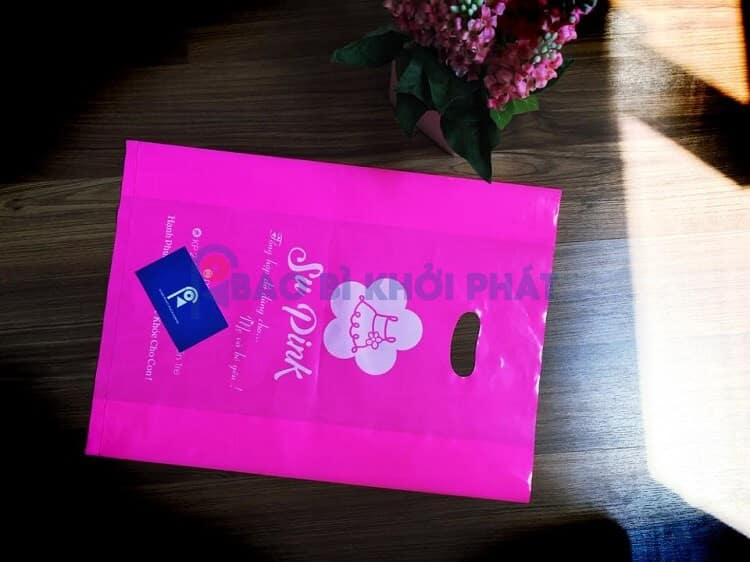 túi xốp thời trang màu hồng