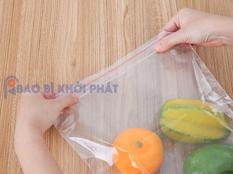 túi zip bảo quản trái cây