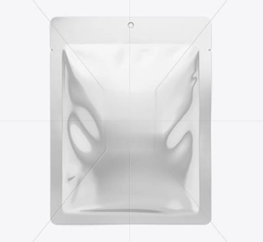 Mockup Túi Zipper không đáy dựng file 3D